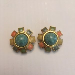 Starburst Clip On Earrings